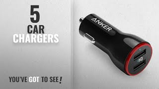 Car Chargers [2018 Best Sellers]: Anker 24W Dual USB Car Charger, PowerDrive 2 for iPhone X / 8 / 7