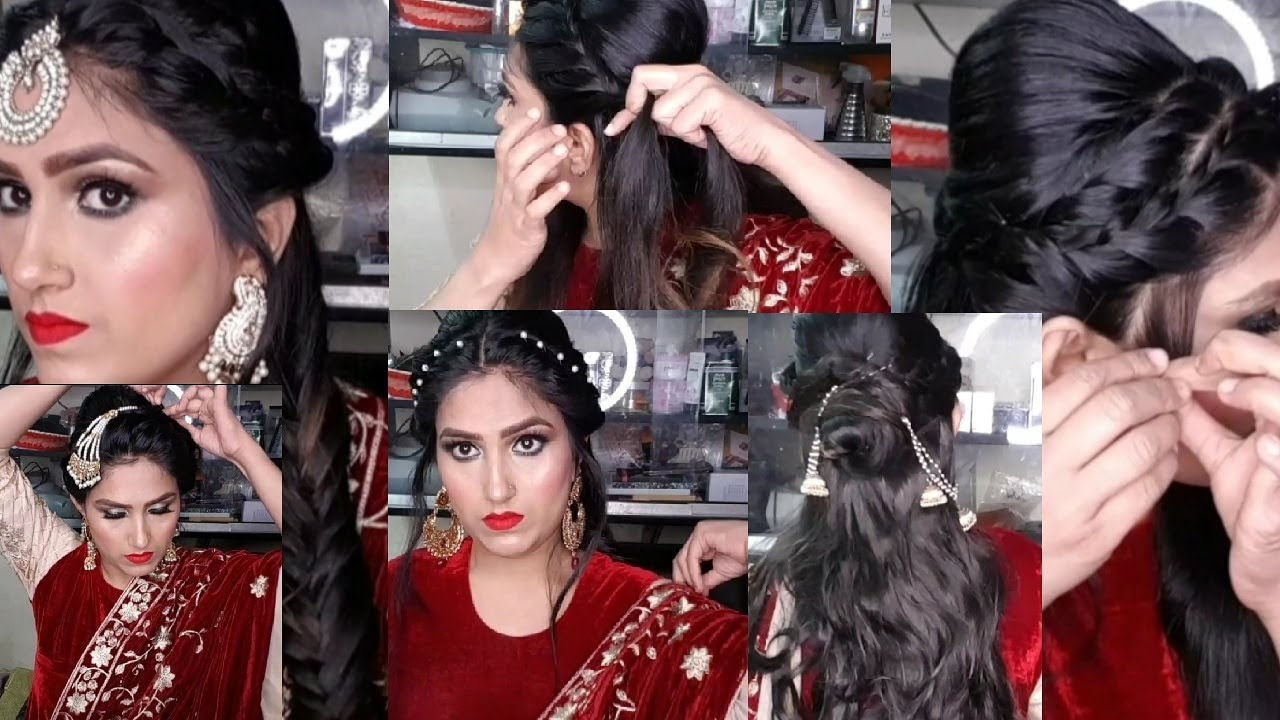 beautiful hairstyles for wedding / party / nikah || simple & easy heat less hair styles