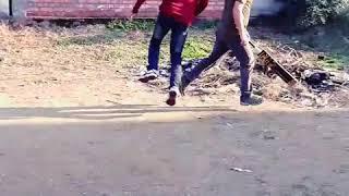 Playing Cricket Match