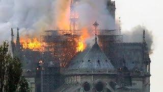 Пожар в соборе Парижской Богоматери   ВЕЧЕР