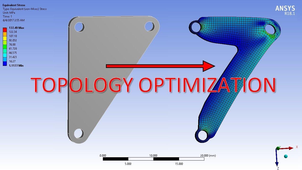 Ansys 18 1 Topology Optimization Youtube