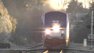 The Amtrak Crescent #20 With Horn Action! Austell,Ga 03-23-2014©