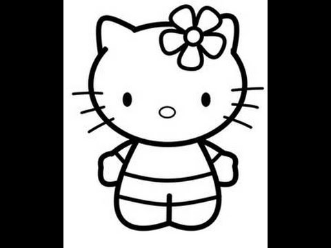 comment dessiner hello kitty facilement - Hello Kitty Dessin