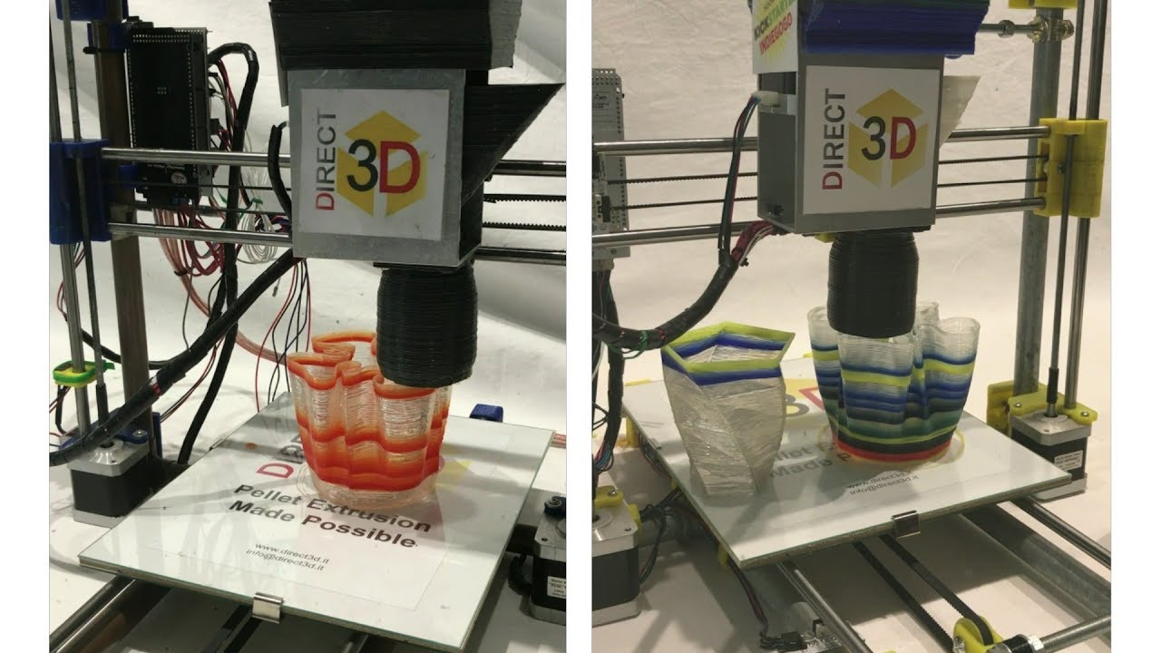 Direct3d Pellet Extruder For 3d Printing Showcased At Maker Faire Rome 2017 Youtube