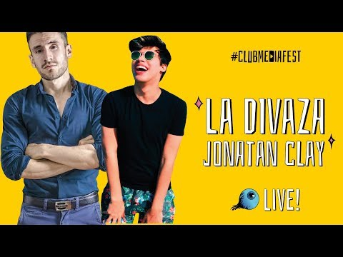 La Divaza y Jonatan Clay en Club Media fest