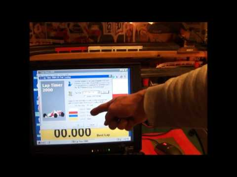 Laptimer 2000 >> Laptimer 2000 Slot Car Timer With Parallel Photo Sensor Cable On