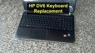 Keyboard replacement, laptop or notebook HP Pavilion DV6 - VOTD