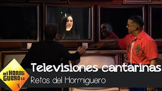 Daddy Yankee alucina con las televisiones cantarinas - El Hormiguero 3.0