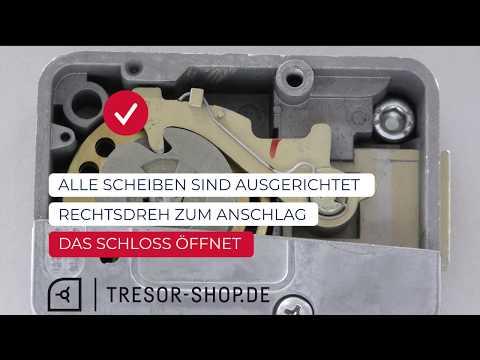 Tresor Mechanisches Zahlenschloss Anleitung Und Funktion