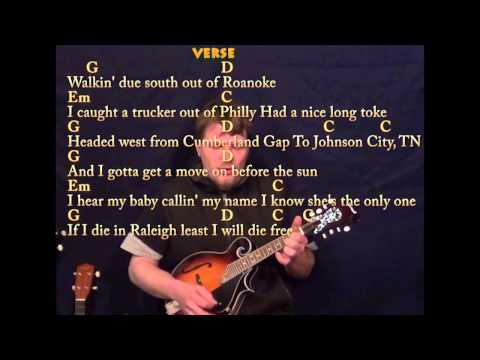 Wagon Wheel - Easy Mandolin - G Em C D - Easy Cover Lesson with Lyrics