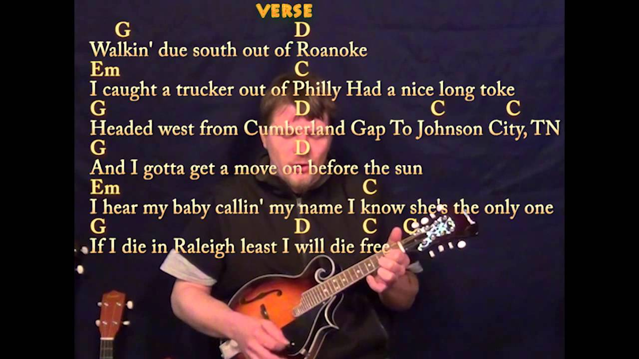 Wagon Wheel - Easy Mandolin - G Em C D - Easy Cover Lesson with Lyrics - YouTube