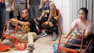 Office Fling | Crazy Chair Slingshot Challenge! (Minute to Win It)