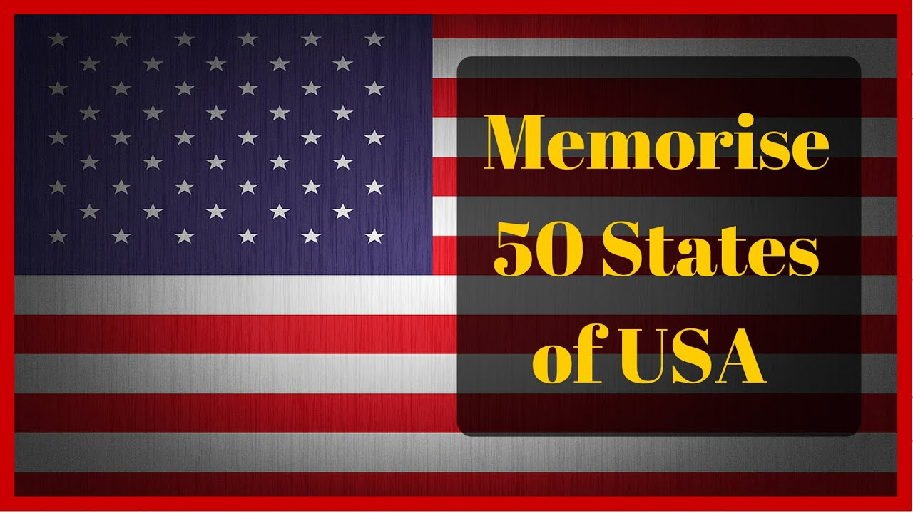 Learn the Names of 50 American States With An Easy Mnemonic YouTube