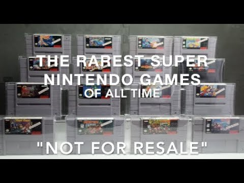 The Rarest Super Nintendo Games of All Time   Hardest to Find SNES Games