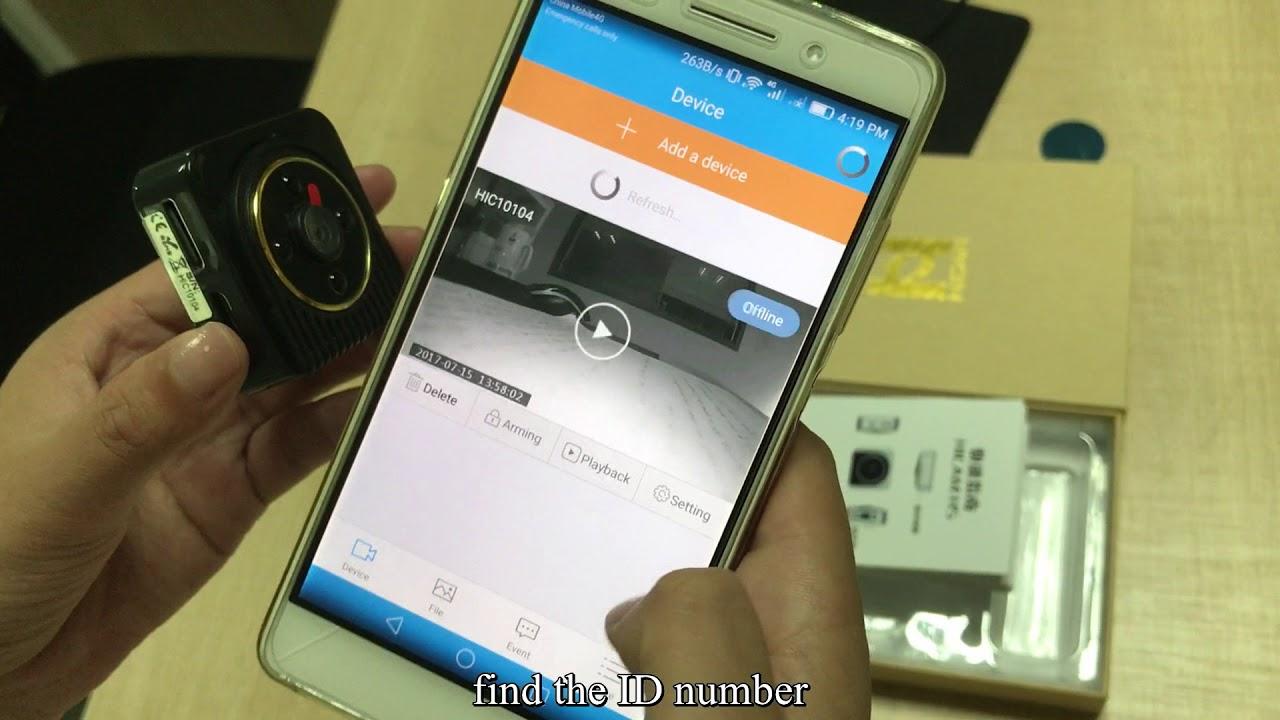 H5 Mini WIFI IP Wireless Camera Night Vision