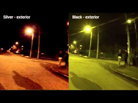 GoPro Hero3 Black vs Silver low light/night test