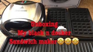 UNBOXING MY BLACK N DECKER SANDWICH MAKER