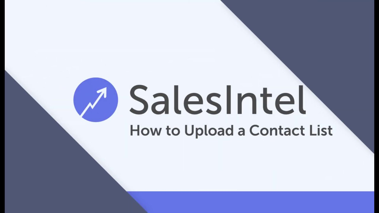 How to Upload a Contact List to SalesIntel