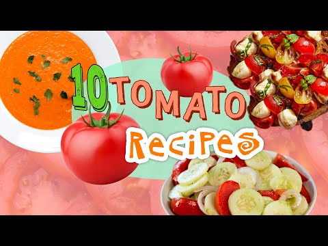 10 Must-Try Summer Tomato Recipes | What to Make with Fresh Tomatoes | Recipe Compilation