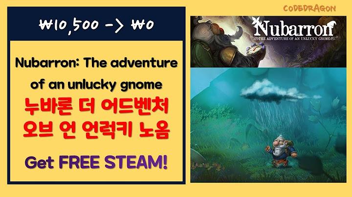 Nubarron: The adventure of an unlucky gnome 누바론 더 어드벤처 오브 언 언럭키 노옴 무료로 받기;  스팀 Steam 한시적 무료 Get free