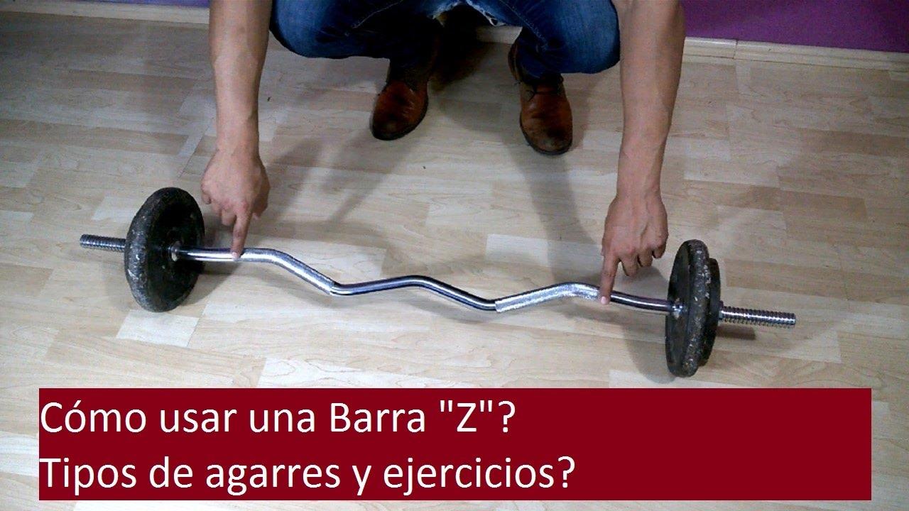 rutina de biceps con barra z