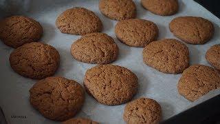 Шоколадное печенье банановое без яиц, к чаю быстро/Egg-free banana cookiess