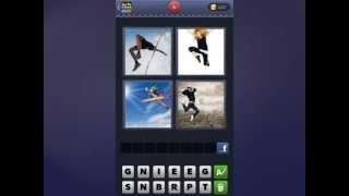 4 Bilder 1 Wort Lösung [Hochspringer, Frau, Skifahrer, Mann]