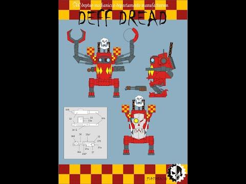 Deff Dread Work 1. W40k. Бумажные модели. Картонный моделизм.