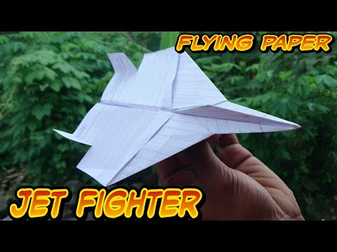 Origami Pesawat Terbang Lama Dan Jauh.