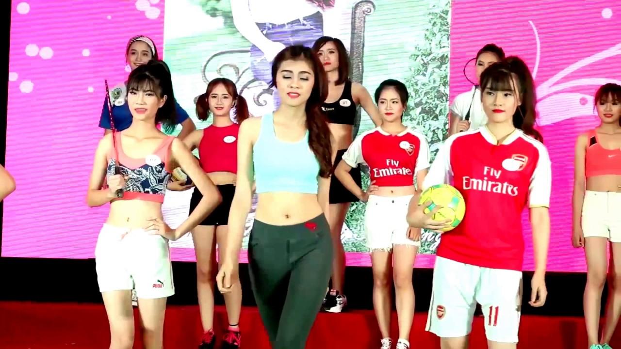 Trình diễn trang phục thể thao | Chung kết Duyên dáng nữ sinh Giao thông | 2016.05.14.(7)