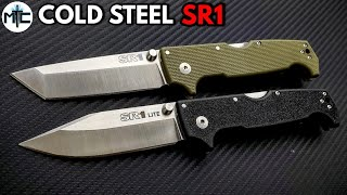 Cold Steel SR1 G10 and LITE Folding Knives - Review and Comparison