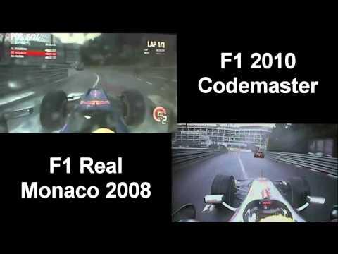 F1 2010 Games vs F1 Real Monaco 2008