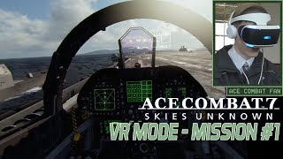 Ace Combat 7 | VR Mission #1 | Scramble | F-18F Gameplay | 1080p 60fps