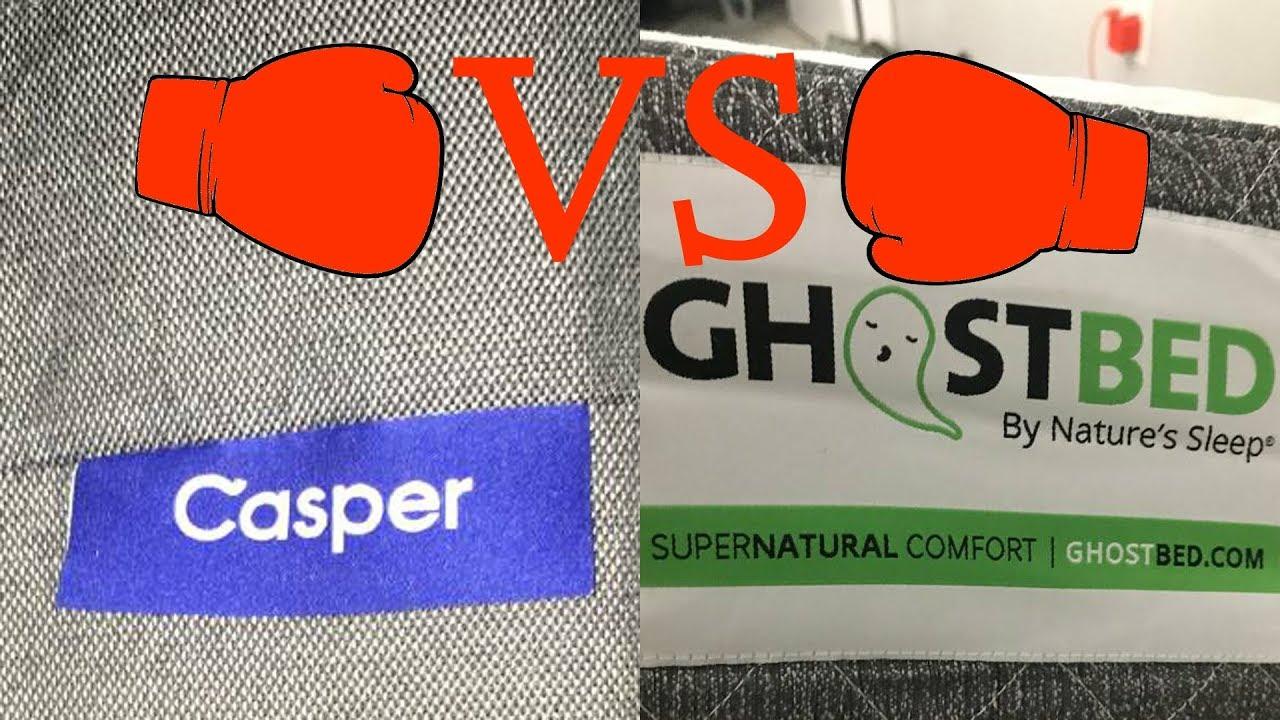 Ghostbed Mattress V Casper Mattress Youtube
