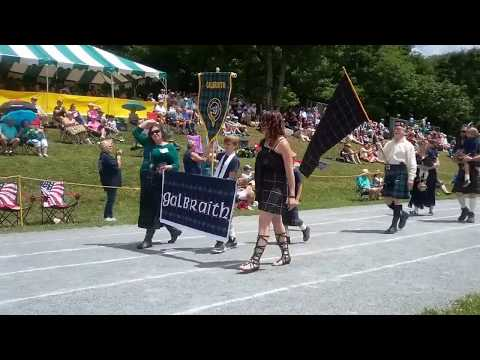 Parade of the Tartans at the 2017 Grandfather Mountain Highland Games