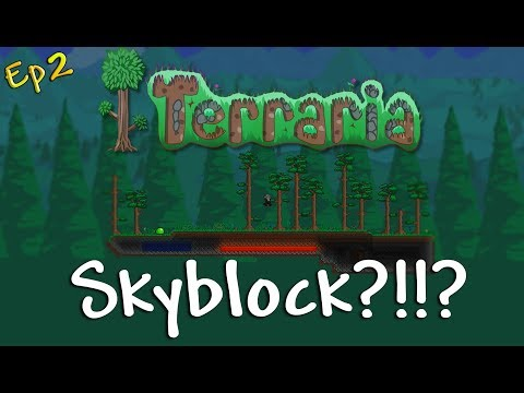 Terraria: Skyblock, This Island Is My Home Now! [Modded, Let's Play Ep 2]