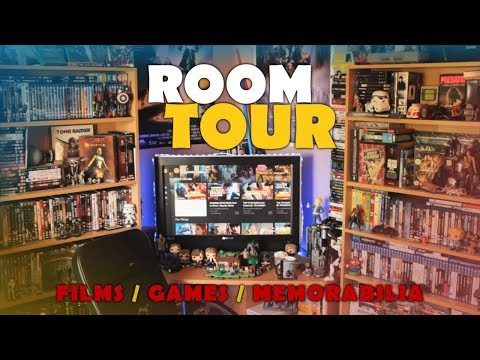 Man Cave Room Tour (2017) - Blu-Ray / Games / Memorabilia Collection