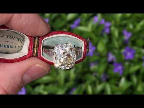 9 Carat Old Mine Cut Diamond Engagement Ring