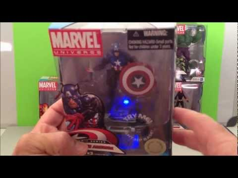 MARVEL AVENGERS CAPTAIN AMERICA TOYS-R-US COMIC SERIES TOY REVIEW
