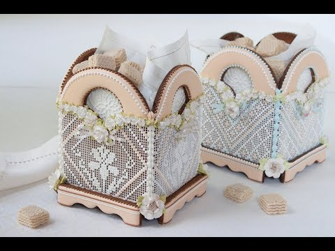 3-D Footed Needlepoint Cookie Box
