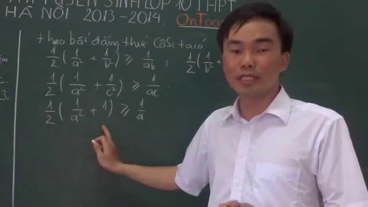 Đáp án đề thi vào 10 THPT Hà Nội 2013[http://mclass.vn/thaydoquangkhuong]