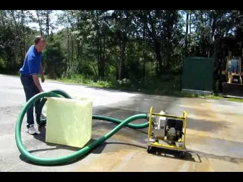 Flooded Basement Cleanup , Wacker PT3A, Water Pumping, Groton Wayland MA NH