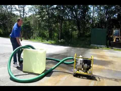 Flooded Basement Cleanup , Wacker PT3A, Water Pumping, Groton Wayland MA NH