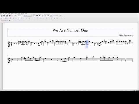 We are Number One but Alto/Bari Sax Sheet Music