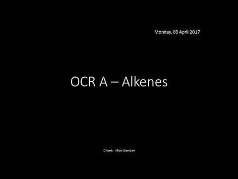 OCR A 4.1.3 Alkenes REVISION