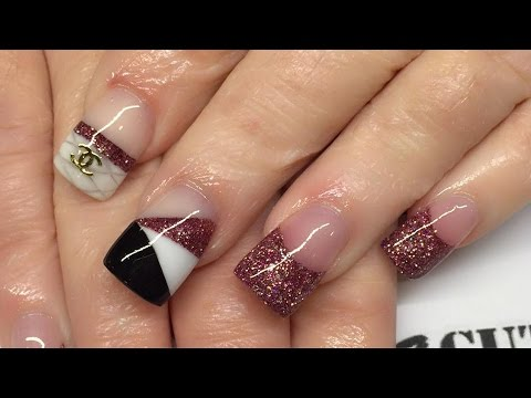 Nails Tutorial Acrylic Powder Blocking
