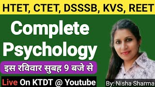 Complete Psychology Marathon Class on Sunday , 13 Oct 2019 - By Nisha Sharma Panipat - KTDT