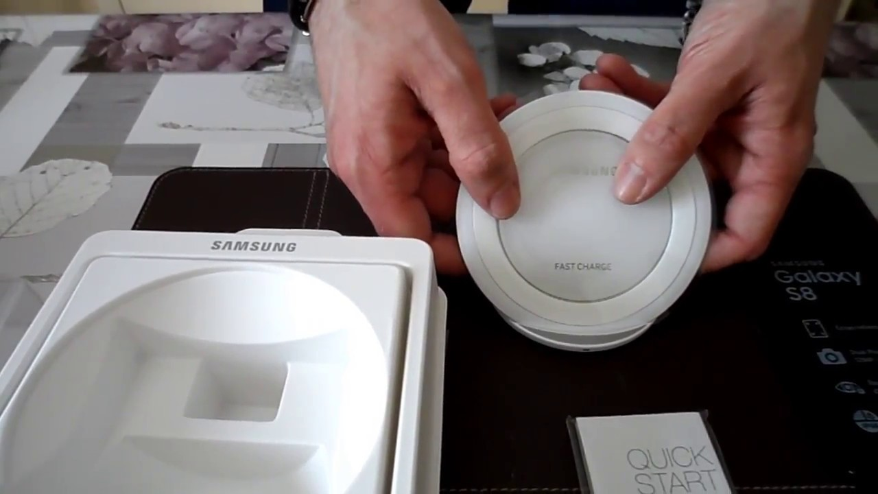 samsung chargeur pad induction stand s6 s7 s8 blanc unboxing youtube. Black Bedroom Furniture Sets. Home Design Ideas