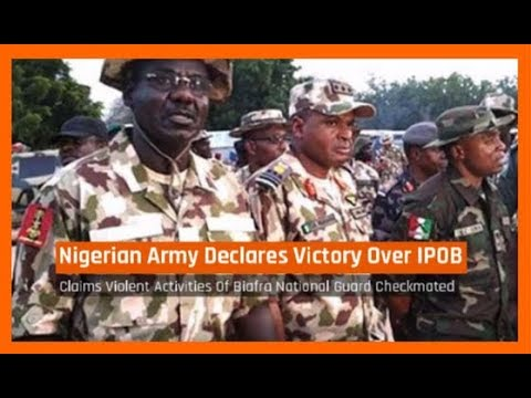Nigeria News Today: Biafra - Nigerian Army Declares Victory Over IPOB (23/09/2017)