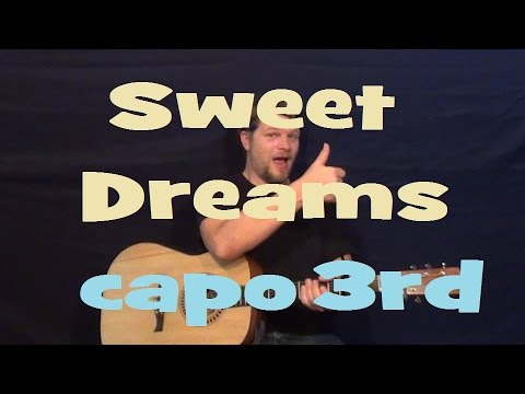 Sweet Dreams (Eurythmics) Easy Strum Guitar Lesson - Chord How to ...